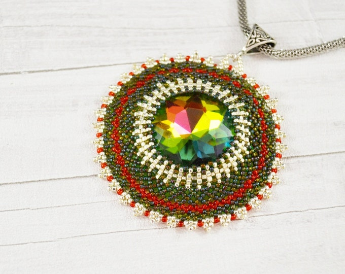 Colored necklace braided necklace crystal necklace colorful necklace big crystal red green silver chain snake round necklace Valentine Day