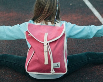 Bubblegum Heap Backpack, Retro, Vintage Inspired, Canvas and Leather Children's Backpack