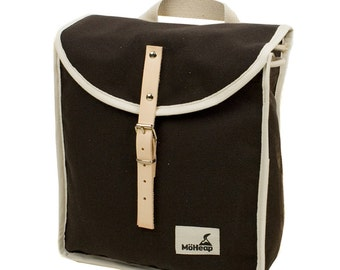 Brown Sugar Heap Backpack, Retro, Vintage Inspired, Canvas and Leather Children's Backpack