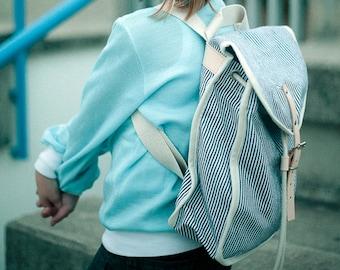 Swabbie Heap Backpack, Retro, Vintage Inspired, Canvas and Leather kids Bag - Kids Backpack