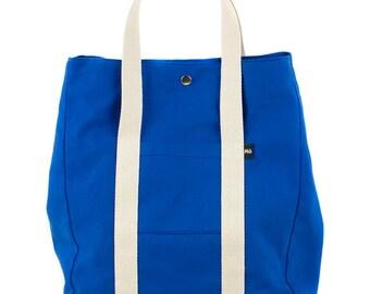 Royal Blue Backsac Bag, Two In One, Versatile, Tote Bag or Backpack, Shopping Bag, Women's Bag
