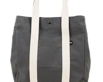 Grey Backsac Bag, Two-Way Shoulder Bag, Tote Bag or Backpack, Women's Bag