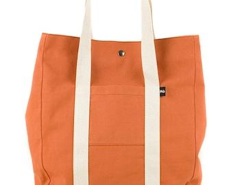Copper Backsac Bag, Two In One, Versatile, Tote Bag or Backpack, Shopping Bag, Women's Bag