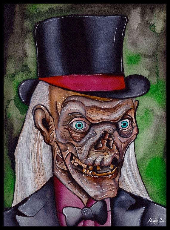 Crypt Keeper Original Art Print Tales From The Crypt Crypt Keeper Crypt Keeper Art Classic Horror Horror Art Art Print