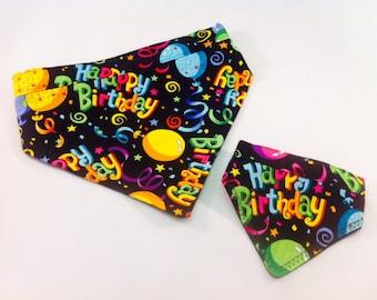 Happy birthday dog bandana