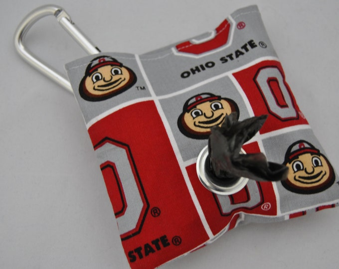 Ohio State poop bag pouch