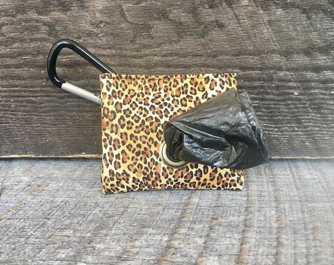 Leopard Poop Bag Pouch