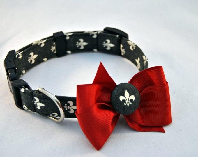Fleur De Lis Collar with Bow