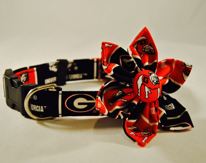 UGA  Fabric Flower Accessory