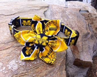University of Michigan Fabric Flower Accessory