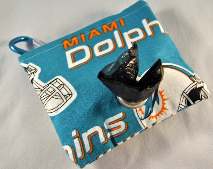 Miami Dolphins Poop Bag Pouch