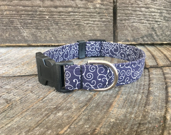 Navy Swirl Collar