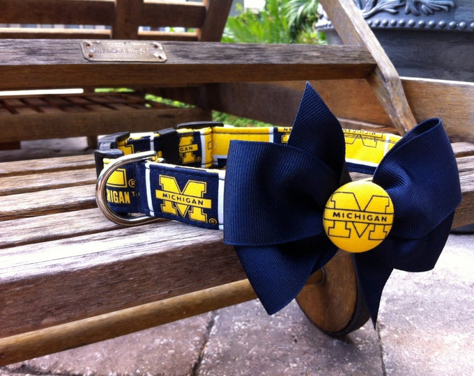 University of Michigan Collar With Bow