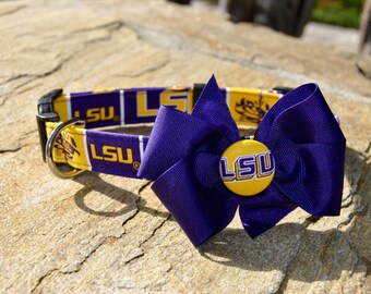 LSU Collar With Bow