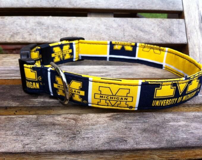 University of Michigan Dog Collar
