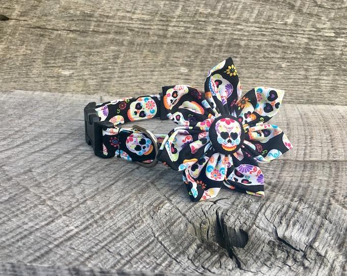 Sugar Skull Fabric Flower Accessory