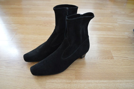 Black Suede Classic Boots Peter Kaiser 41 9 9.5