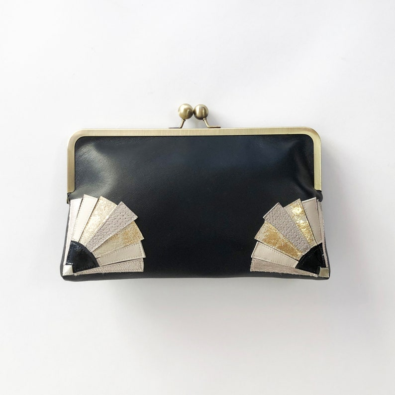 1930s Handbags and Purses Fashion Art Deco Style Clutch Bag $236.39 AT vintagedancer.com