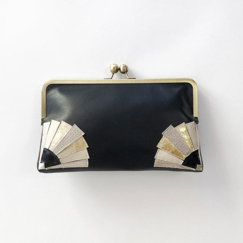 1920s Style Purses, Flapper Bags, Handbags Art Deco Style Clutch Bag $236.39 AT vintagedancer.com