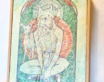 She Wolf - Painting
