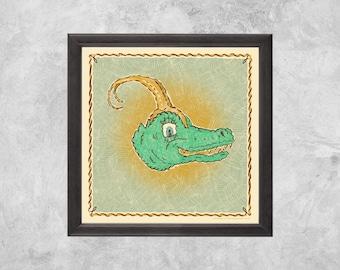 Gator of Mischief | Art Prints