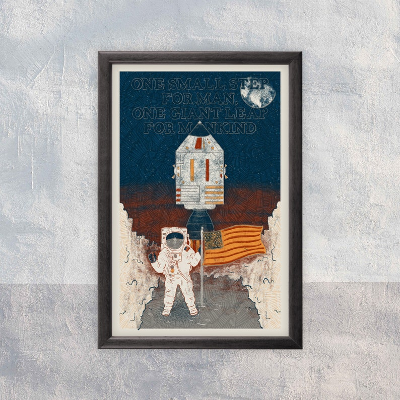 One Small Step for Mankind  Art Print image 0