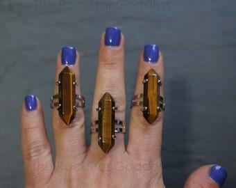 Tiger Eye / Adjustable Ring / Gemstone Ring / Tiger Eye Ring