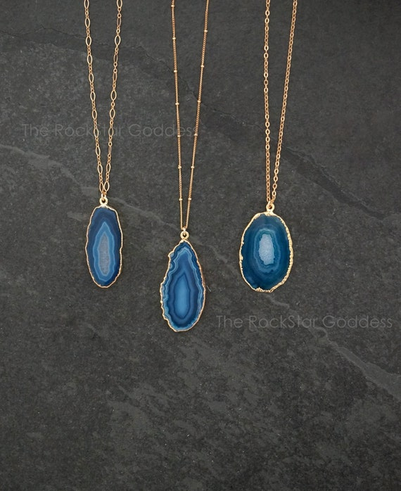 AGATE DRUZZY PENDANT chakra pendant stone reiki Crystal healing balancing AV32 jewel pendant