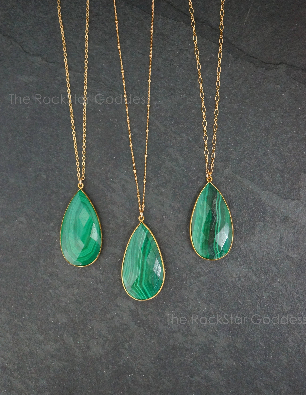 Malachite Necklace. Malachite Silver Pendant Malachite Jewelry Malachite Pendant Malachite