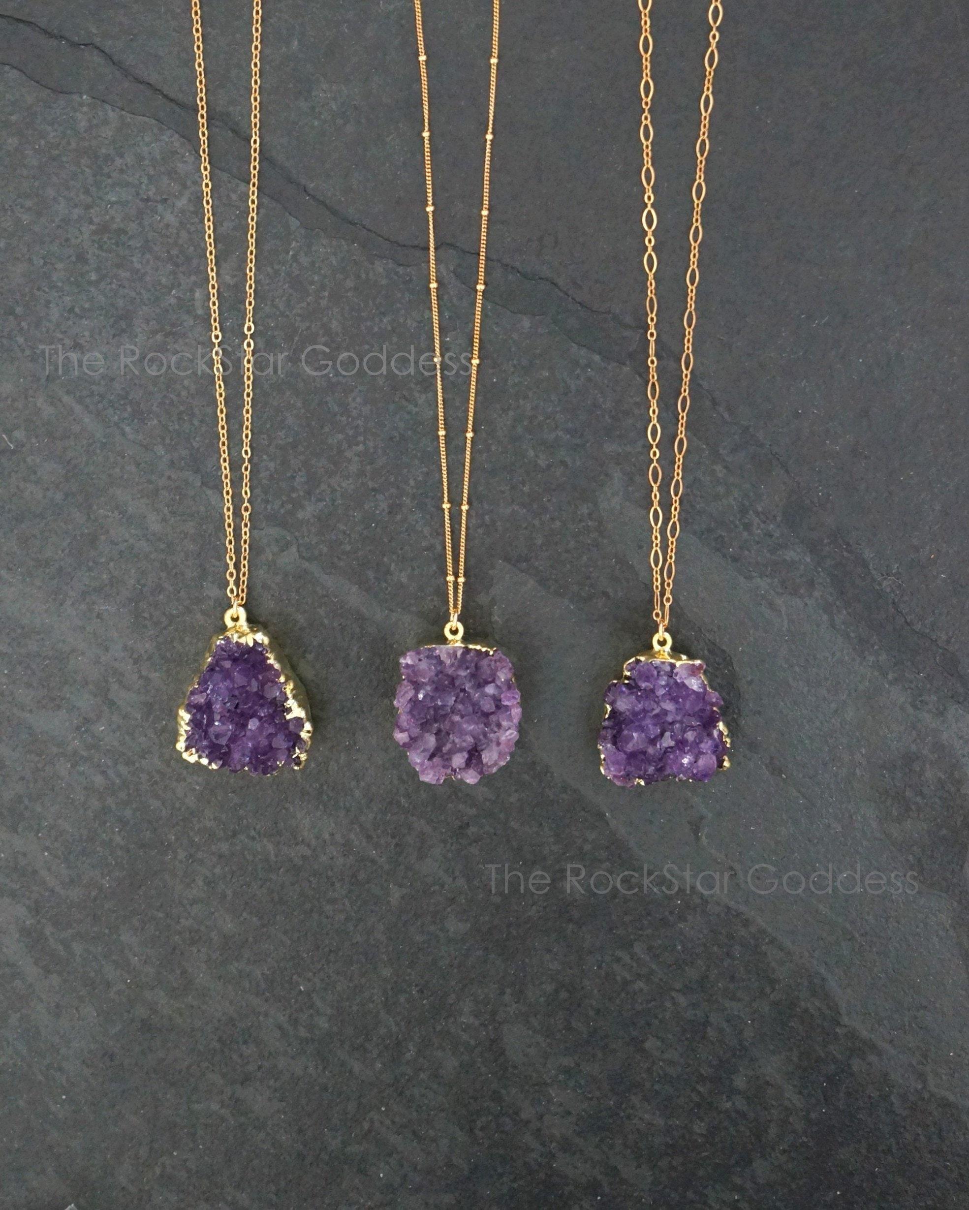 Amethyst Jewelry for Woman Man Lucky Purple Quartz Crystal 28x10mm Beads Gemstone AAAAA DUOVEKT Heart Amethyst Pendant