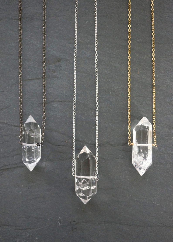 Quartz Necklace / Quartz Crystal / Raw Quartz / Clear Quartz / image 1