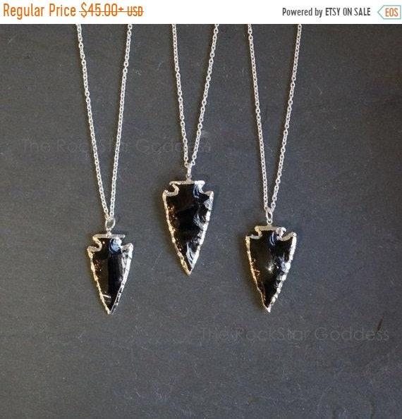42b799f3703d64 4th of July SALE / Black Obsidian / Black Obsidian Necklace / | Etsy