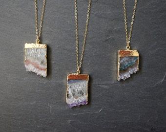 Amethyst Necklace / Amethyst Jewelry / Druzy Necklace / February Birthstone / Gemstone Necklace