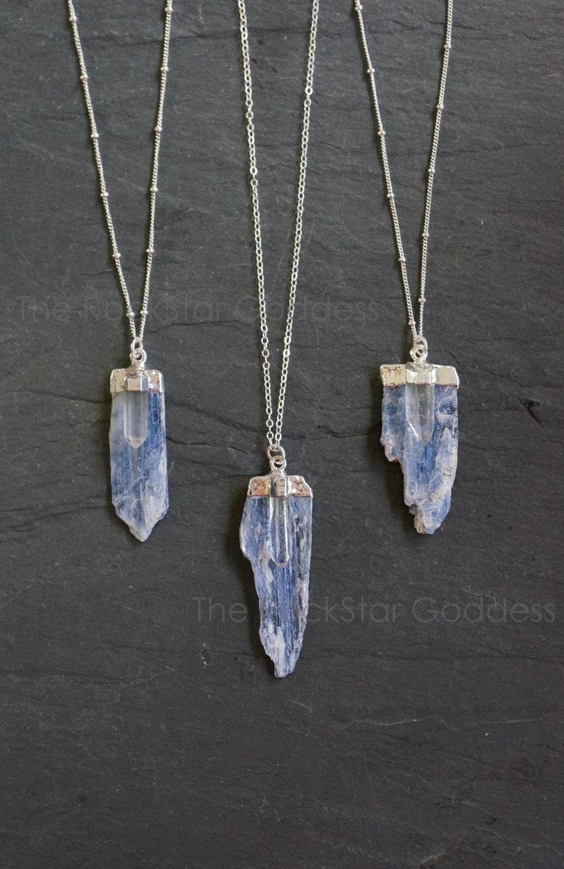 Kyanite Necklace / Raw Kyanite Necklace  / Kyanite Quartz image 0