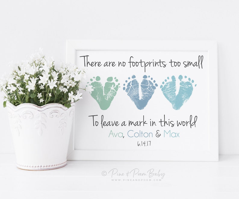 Baby Footprint Ring Excellent In Cushion Effect Keepsakes & Baby Announcements