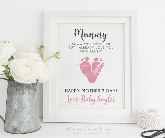 Expecting Mommy Mothers Day Gift-Mommy To Be Gifts-First Time Mommy Gifts-Pregnancy Gifts-Baby Shower Gifts-Ultrasound Print-Choice of Poem
