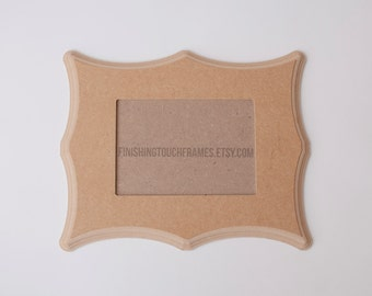 Paint yourself . Ornate Shapes . Curved Frames . DIY 5x7 Unfinished Whimsical Picture Frame .
