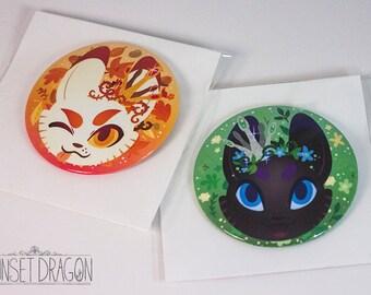 Kitsune/Otsune giant buttons!