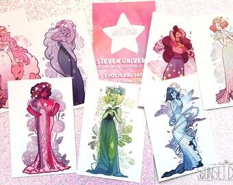 Steven Universe Art Nouveau Postcard Set