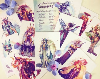 Final Fantasy Summons Postcard Set