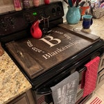 Stained Stove Top Cover FREE SHIPPING Free Personalization