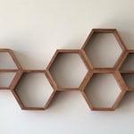 Hexagon Wall Shelf FREE SHIPPING