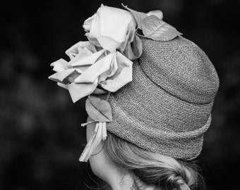 Black and White Photography - Girl in a Hat Fine Art Photograph - Vintage Farewell Print