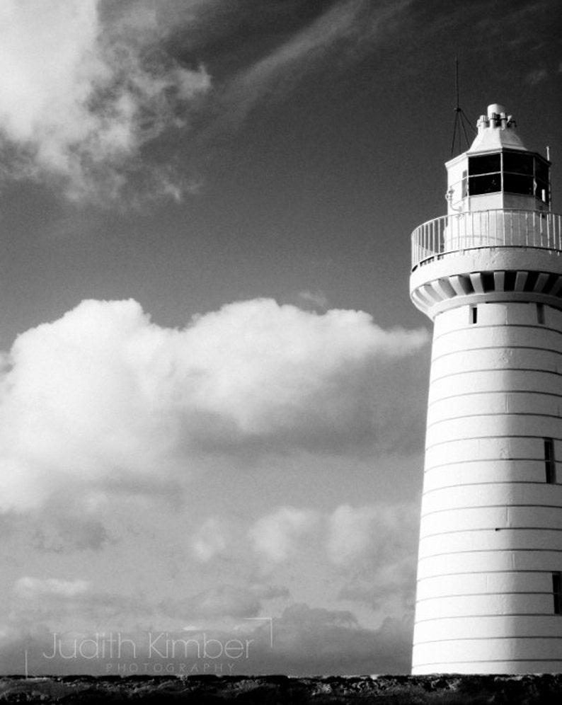 Black and white photography irish lighthouse print northern ireland photography donaghadee lighthouse 8x10