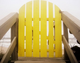 Beach Photography - Yellow Gate Fine Art Photograph - Florida - 8x10