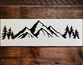Mountain and Forest Decal, Outdoors Decal, Adventure Decal, Hiking Decal , Laptop Decal, Car Window Decal