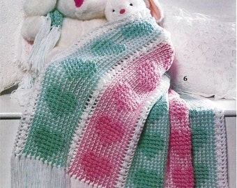 Panel of Hearts Blanket Pattern