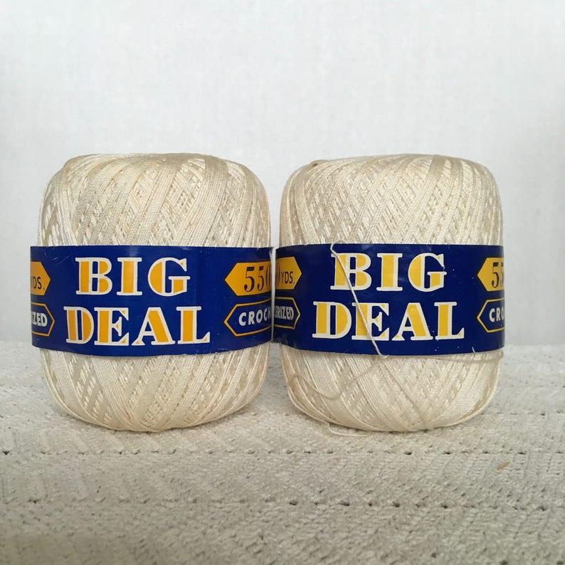 Vintage Lily Mills Cotton Yarn  Crochet Yarn, Thread Yarn, Yarn Lot, String  Yarn, Tatting Fiber, Lace Making, Doily