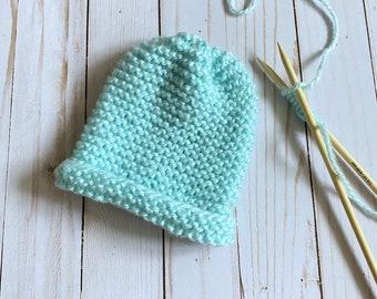 Knitted Baby Beanie, Basic Beanie, Ribbed Beanie, Winter Hat, Toboggan
