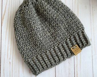 Crochet Adult Beanie, Crochet hat, Winter Wear, Chunky Beanie, Toboggan